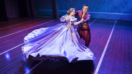 Anna (Annalene Beechey) and The King (Jose Llana) in The King and I, Manchester Opera House, 2019, C
