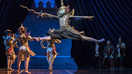 Tuptim's balletic re-telling of Uncle Tom's Cabin, in the King and I, Manchester Opera House, 2019,