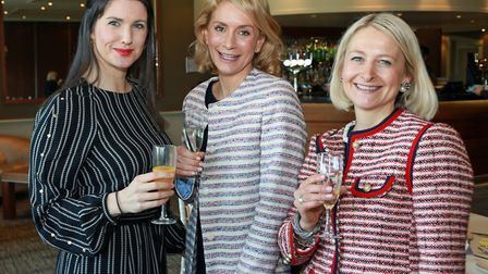 Cheshire Life's new editor, Katie Mulloy, with Leila Bibby and Mary-Jane Greenhalgh