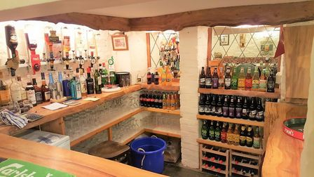 The welcoming bar