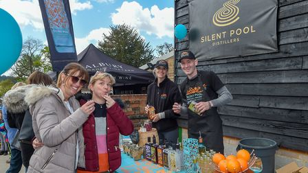 Enjoying the street party at Silent Pool (Photo by Andy Newbold)