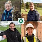 From top left, clockwise: Izzy Coomber at The British Wildlife Centre, Michael Mann at Walton Heath