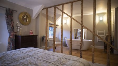 The bedroom and bathroom have been cleverly redesigned, making them perfect for two