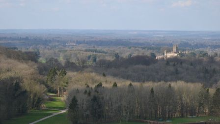View over Highclere Castle (aka Downton Abbey)