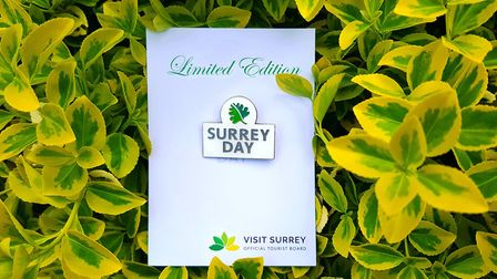 Surrey Day badge (Photo by Matthew Williams)