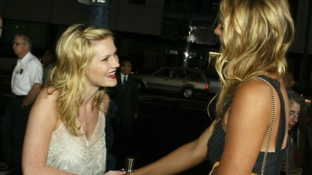 Actress Kirsten Dunst and Wimbledon champions Maria Sharapova attend the world premiere of the Unive
