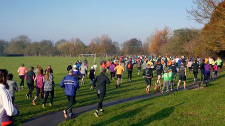 And they're off! Taking part in the Tonbridge Park Run, one of many similar events taking place arou