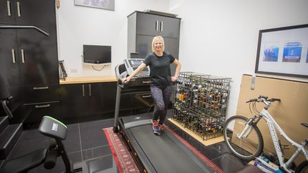 Hannah-Jane Dobbie invested in a running machine to help build up distance and stamina (photo: Manu