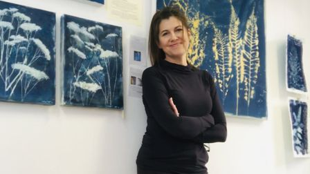 Paula Preston with some of her work