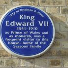 The blue plaque marking the Sassoon family's regular visitor King Edward VII (Photo: Clive Agran)