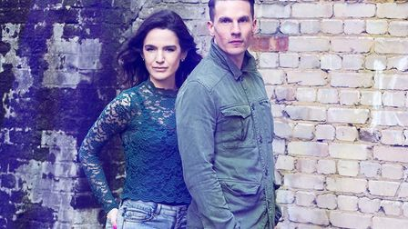 Aaron Sidwell and Laura Samuel in Henry V at Cirencester's Barn Theatre