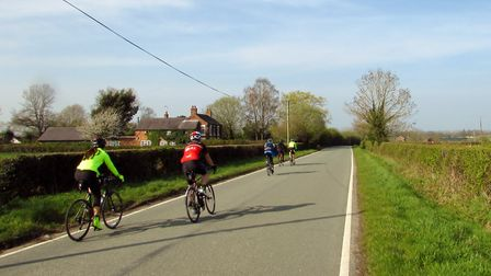 Cyclists on Willington Road