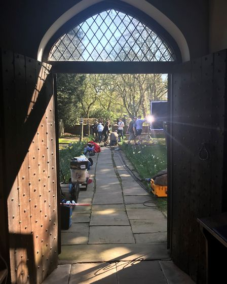 Coronation Street filming in Peover