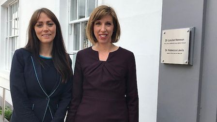 (L-R): Laura Perry (Barclays) with Dr Louise Newson, (Newson Health)