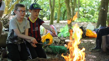 Building bonfires is always a favourite activity at Forest School