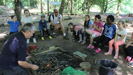 Children get close to nature at Forest School