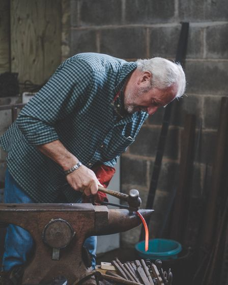 Robbie Richardson, the inventor of Crolf, is a farrier who creates metal 'hools' or three-way hoops