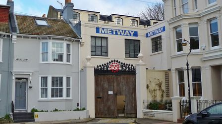The former clock factory now home to the Levellers' Metway Studios in Brighton (Photo by Sebastian O