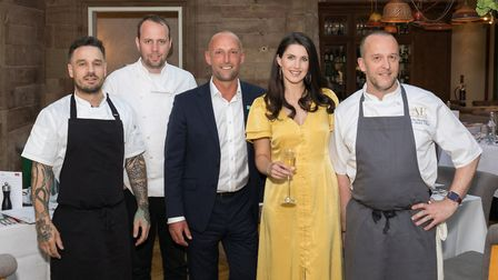 Gary Usher, Mark Poynton, General Manager John Scott, Editor of Cheshire Life Katie Mulloy and Execu