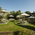 When the weather allows, take a seat in the Horse and Groom's beautiful beer garden