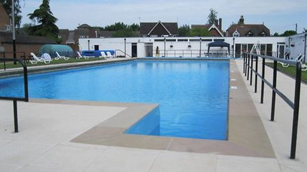 Ware Priory Lido after refurbishment this year