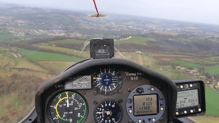 View from the cockpit