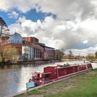 The River Avon and Royal Shakespeare Company theatre, Stratford-upon-Avon