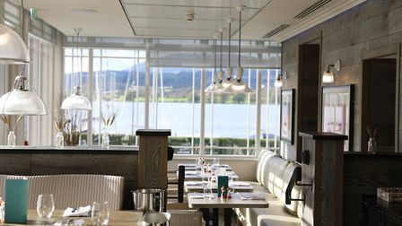 Dine in contemporary style at Blue Smoke restaurant