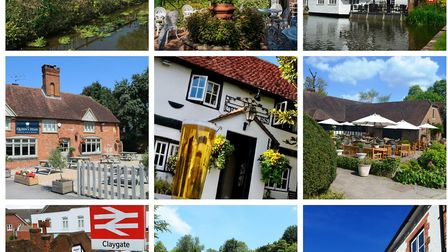 Top row: Percy Arms (Photo: John Powell); King William IV; Mill at Elstead (Photo: Matthew Williams)