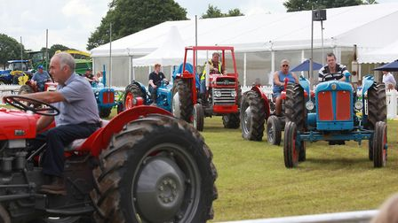 Vintage machinery display in the main arena is always a popular feature for motor enthusiasts