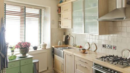 Sarah's maple wood kitchen came from Homebase when she was working there part-time