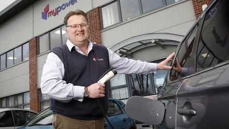 Ben Harrison, managing partner of mypower, who can recharge his Mitsubishi Outlander PHEV hybrid car