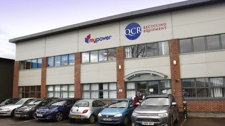 The offices of mypower, and sister company QCR, at Orchard Industrial Estate, Toddington.