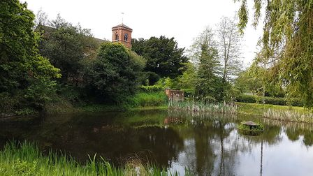Apperley's charming church and pond