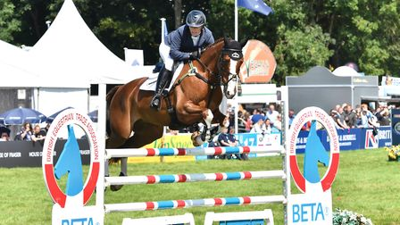 Zara Tindall riding BGS Class Affair at The Smith & Williamson British Intermediate Championship , 2