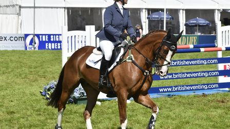 Zara Tindall riding BGS Class Affair at The Smith & Williamson British Intermediate Championship, 20
