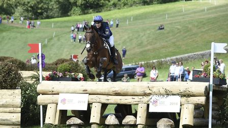 Zara Tindall riding Watkins at Gatcombe Park (c) Kit Houghton