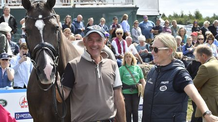Zara Tindall meets Valegro parading at Gatcombe (c) Kit Houghton