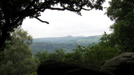 Views open up across the moor to distant Hound Tor