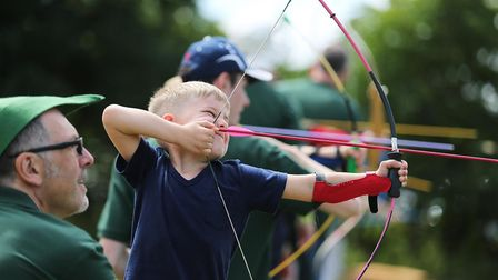 Have a go at archery at The Game Fair at Hatfield House (photo: The Game Fair)