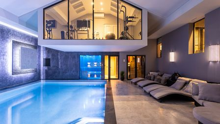 The stunning pool at Overdale, Prestbury
