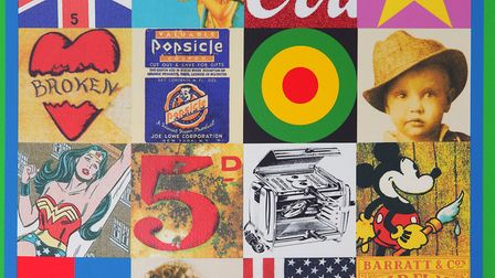 Some of the Sources of Pop Art 4, by Sir Peter Blake, at Wetpaint Gallery