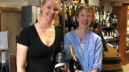 Aoife Brennan with Nikki Jarrett, general manager of the Leamington Wine Company
