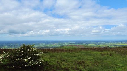 Blue skies and green fields from Croker Hill