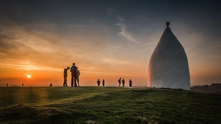 White Nancy sunset by Dave Bower