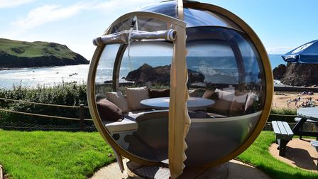 The Lobster Pods allow a spectacular sunset dining experience
