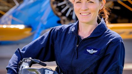 Kate McWilliams is the the UK's youngest commercial pilot (Photo by Jim Holden)