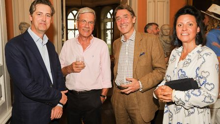 Ian Short Chairman of Chester Visual Arts, Lord Cholmondeley with Nicholas and Tilly Dobbs