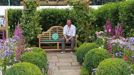 Liam English, the head gardener for The Port Sunlight Village Trust won a Silver Gilt Medal for his