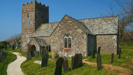 One of Welcombes key buildings is St Nectans parish church